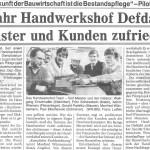 1 Jahr Handwerkshof Defdahl: Meister und Kunden zufrieden Quelle: WR