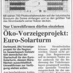 Öko-Vorzeigeprojekt: Euro-Solarturm  Quelle: RN