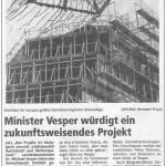 Minister Vesper würdigt ein zukunftsweisendes Projekt Quelle: WR