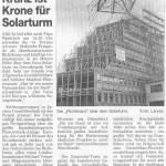 Kranz ist Krone für Eurosolarturm Quelle: RN